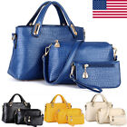 3PCS Womens Leather Handbag Shoulder Crossbody Bag Tote Messenger Satchel Purse