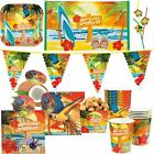 Beach Hawaiian Tropical Paradise Summer Parrot Surfing Birthday Party Decoration
