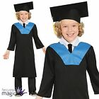 Boys Girls Childs Student Graduation Gown Fancy Dress Costume Mortar Board Hat