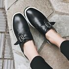 Classic Womens Casual Creepers Buckle Round Toe Wedge Heel Running Sport Shoes