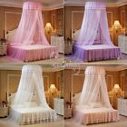 Elegant Round Dome Princess Bedding Hanging Canopy Mosquito Net Girls Bedroom