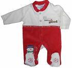 Baby Unisex Christmas Romper Sleepsuit baby Grow Newborn 0-3 and 3-6 Months