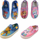 Paw Patrol Childrens Kids Slip on Summer Canvas Pumps Trainers Shoes Boaters