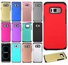 For Samsung Galaxy S8 / S8 PLUS HARD Astronoot Hybrid Rubber Cover +Screen Guard