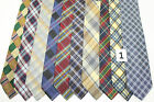 LOT OF 10 CROSSED STRIPES  silk ties. E38805