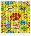 "72/79"" Super Hero Scenery Bathroom Polyester Fabric Shower Curtain 12Hooks 898"