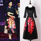 Wholesale 2017 Woman Spring Occident New Fashion Week Hot Printing Long DressSz#