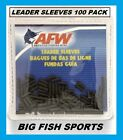 AFW Black Leader Sleeves NEW! # 100 PACK SINGLE BARREL SIZES 1,2,3,4,5