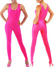 Sexy Hot Pink Sleeveless Workout Unitard Bodysuit Holiday Costume S-2XL