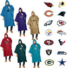 New NFL 32 Teams Available Reusable Adult Rain Poncho Hooded & Storage Pouch