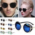 Vintage Style Mirror Lens Round Glasses Cyber Goggles Steampunk Sunglasses NEW