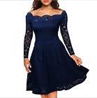 Long-sleeve lace strapless cocktail dress banquet party dress mini skirt