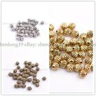 50/100Pcs Silver Round Charm Spacer Beads Jewelry Findings Choose Colors E3138