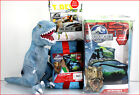 6 /4 pc- JURASSIC World Comforter + Sheet + Blanket + T-REX Dinosaur Pillow TWIN