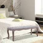 Upholstered Bench Tufted End of Bed Seat Ottoman Wood Bedroom Entryway Furniture