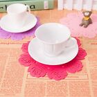 1pc TOP SELLER Silicone Placemat Rose Flower Coasters Mug Cup Tea Cup Pad Mat