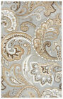 Rizzy Rugs Gray Paisley Petals Leaves Bulbs Contemporary Area Rug Floral SK325A