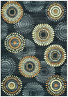 Rizzy Rugs Gray Rings Loops Petals Shaded Contemporary Area Rug Geometric SO4269