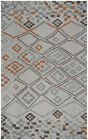 Rizzy Rugs Gray Diamonds Pixels Blocks Contemporary Area Rug Patchwork LS375A