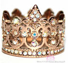 Beauty for Ashes® Royalty Aurora Borealis AB Rose Gold Crown of Life Ring