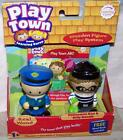 Learning Curve Play Town Policeman Dan & Billy Bandit Wooden Figures New