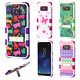 Samsung Galaxy S8 / S8 PLUS Rubber IMPACT TUFF Hybrid KICKSTAND Case Phone Cover