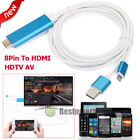 8Pin To HDMI HDTV AV Adapter Cable For iPhone X/8/7/6/6S Plus iPad4 Air Mini 2 3