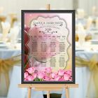 Personalised Wedding Table Seating Plan Names Numbers N160 Large A1 A2 A3 Print