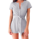 Jumpsuit Romper Trousers Playsuit Sleeveless Party Women Clubwear V-Neck Bodycon