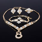 Gold Plated 8 Shape Necklace Ring Earring Bracelet Wedding Jewelry Set Hot Cool