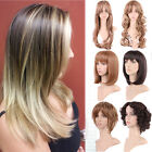 Women Full Wig Long Short Wave Curly Hair Synthetic Wigs Natural Ombre Colour LC