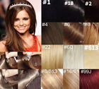 "USPS 22""-36"" Remy Human Hair Clips In Extensions 10Pcs 140g Straight More Color"