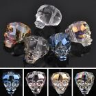 New 14X13mm Skull Head Assorted Faceted Loose Spacer Glass Beads Jewelry Making