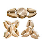 Tri Fidget Hand Spinner Triangle Torqbar Brass Finger Toy 2/3/4 Leaves TOP Style