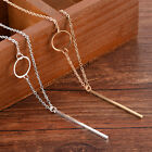 Simple Elegant Punk Necklace Gold Plated Long Sweater Chain Pendant Jewelry