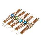 Knit Fashion Weave Creative Dragonfly Women Metal Brown Bracelet Gift Charm