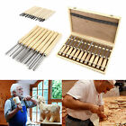 8/12 PIECE WOOD HANDLE CARVING CHISEL SET WOOD WORKING CRAFTS