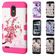 For LG Stylo 3 Tuff Trooper HYBRID TPU Hard Case Skin Phone Cover + Screen Guard