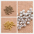 Wholesale 50/100Pcs Tibetan Silver Round Charm Spacer Beads Choose Colors 3141