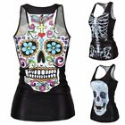 Vest Cute Stylish Europe Hip-hop Skeleton Lady Fashion Clothes Tops Women