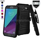 REFINED ARMOR PHONE CASE & SWIVEL HOLSTER FOR SAMSUNG GALAXY J3 PRIME (2017)