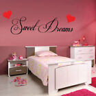 SWEET DREAMS HEART wall decal bedroom kids removable vinyl decals