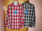 NWT NEW mens size 4X red gray white plaid COLUMBIA lightweight l/s flannel shirt
