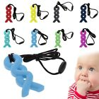 Baby Pendant Necklace Teething Silicone Chew Teether Pacifier Autism Sensory Toy