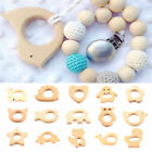 Baby Kids Natural Wooden Teether Animal Shape Handmade Teething Toy Shower Gift