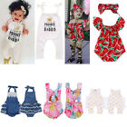 Newborn Baby Girls Bodysuit Romper Jumpsuit Clothes Outfits Summer Sunsuit 0-24M