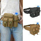 Men Military Tactical Sport Fanny Pack Hiking Hunting Waist Belt Bag Bottle New