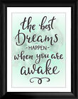 """The Best Dreams Quote 16""""x12"""" Premium Framed Print"""