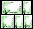 BUTTERFLY LIVE LAUGH LOVE GREEN FLORAL LIGHT SWITCH COVER PLATE   HOME DECOR