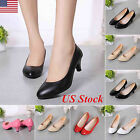 Kyпить US Womens Low Mid High Heel Pointed Toe Pumps Work Office Ladies Bride Shoes на еВаy.соm